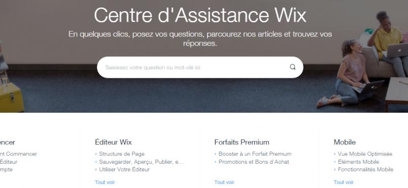 Le centre d'assistance de Wix : trouver des réponses à vos questions