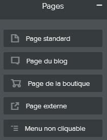 Création d'une page sur un site Weebly