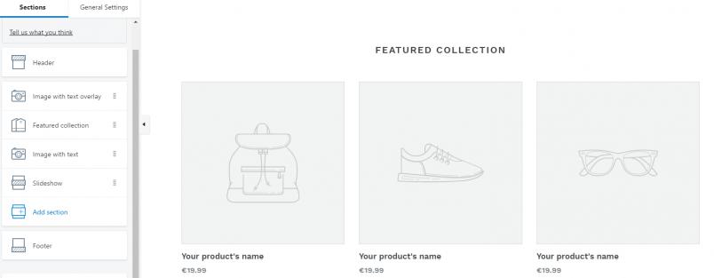 L'édition d'un thème Shopify grâce au système de sections