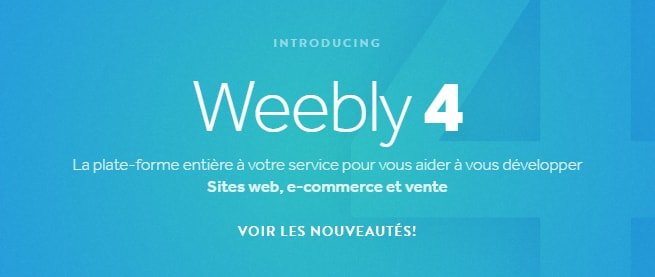 Le nouvel éditeur de Weebly, nommé Weebly 4