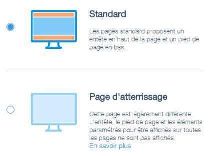 Modifier les paramètres d'une page sur wix