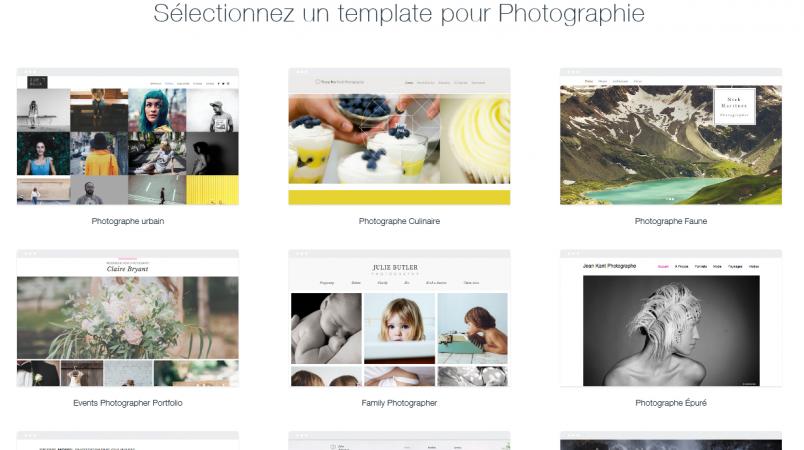 Les templates Wix pour un site dédié à la photographie