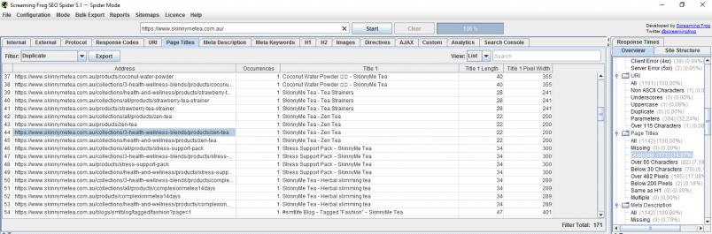 Le Test SEO d'un site sous Shopify grâce à l'outil Screaming Frog