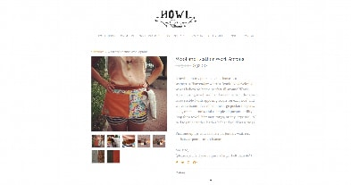 Howl - Exemple de site Weebly