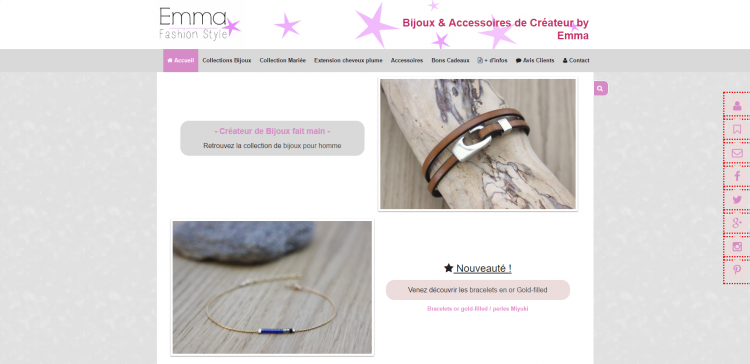 Exemple d'un site cmonsite : Emma Fashion Style