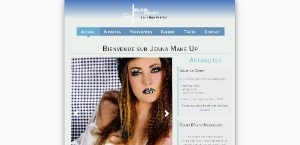 Exemple SiteW : Makeup Artist