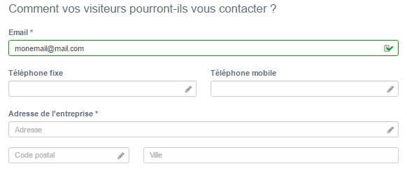 Donner ses informations de contact sur Simplébo