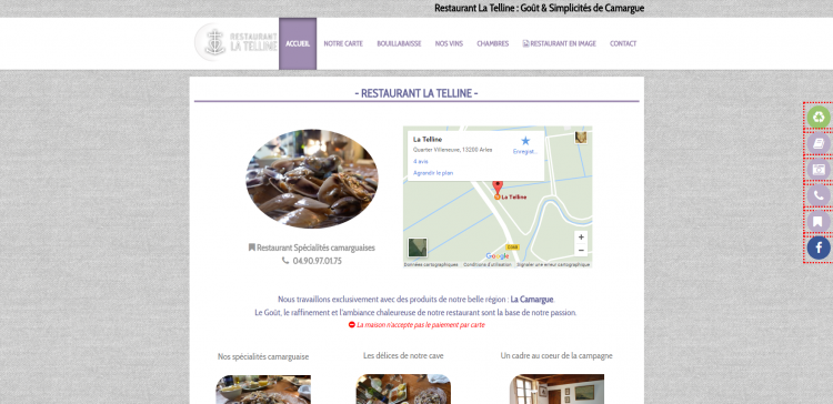 Exemple d'un site cmonsite : La Telline