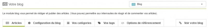 Module de blog CmonSite