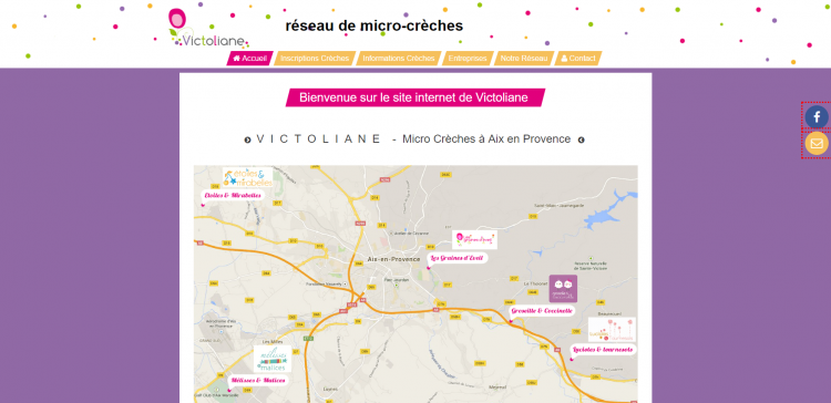 Exemple d'un site cmonsite : Victoliane