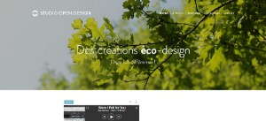 Exemple de site Webnode :  Studio Open Design