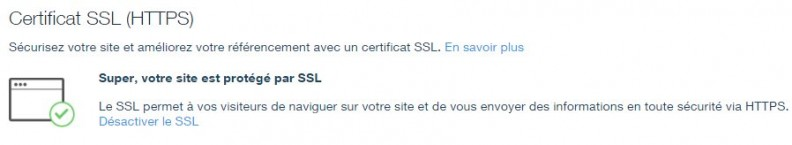 Activation d'un certificat SSL avec Wix