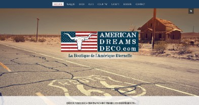 American Dreams Deco, un site Jimdo