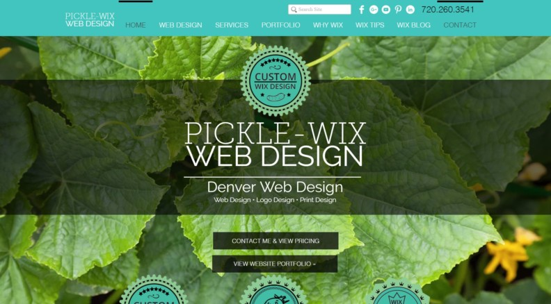 Pickle Wix Webdesign