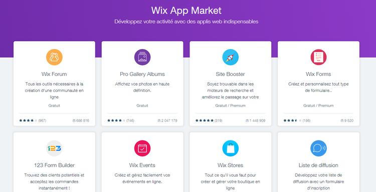 App Market de Wix (nouvelle version)
