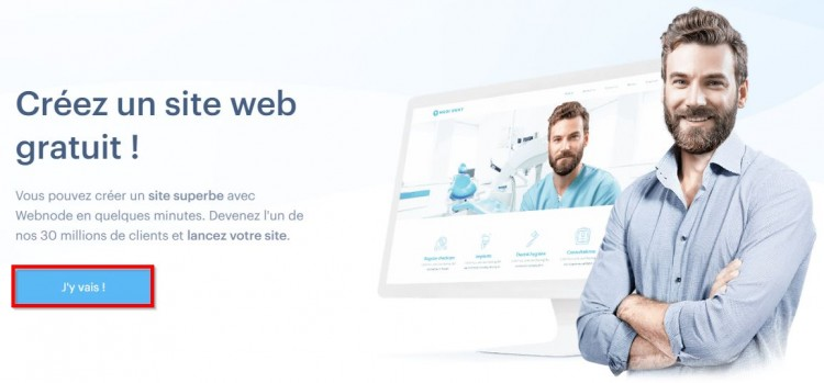 Inscription sur Webnode