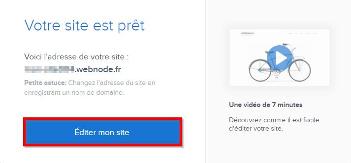 Site Webnode prêt
