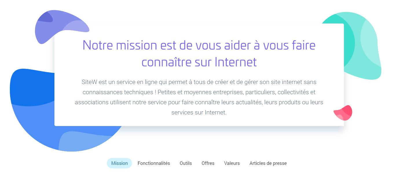 La mission de SiteW